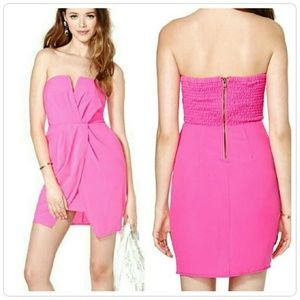 Nasty Gal hot pink cocktail dress